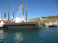 Rock barge for sale