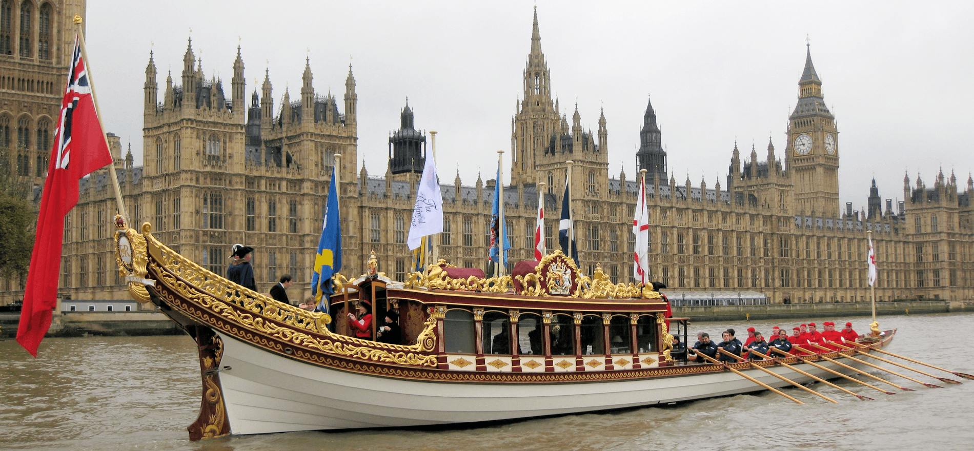 Queen's barge on Thames
