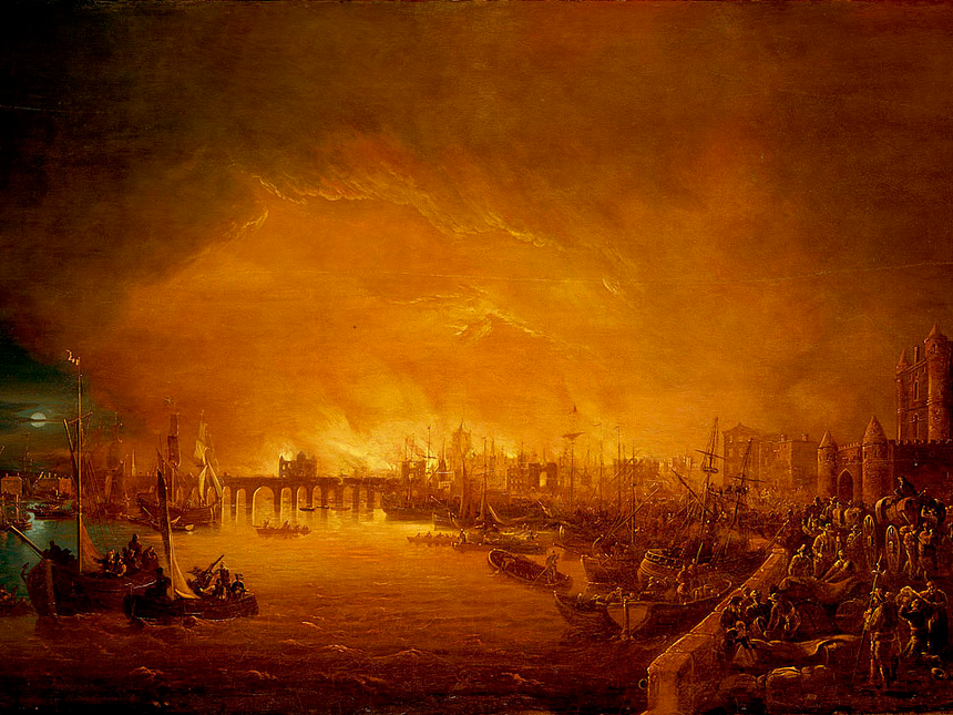 Thames river set ablaze