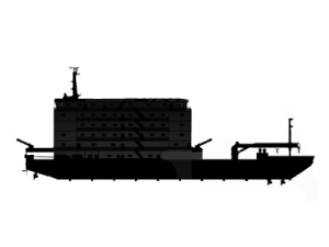 Accommodation work barge for sale / 91 x 25m / 154 PAX