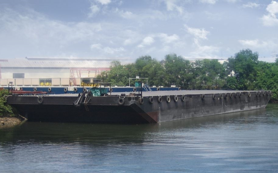 large deck barge