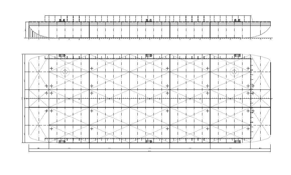 60 x 22 m barge plan