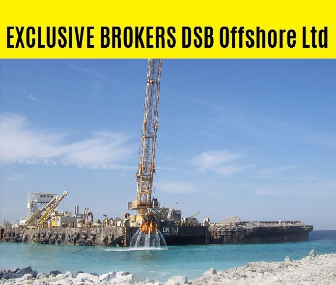 EXCLUSIVE BROKER: sale crane barge DN121 / Built 2007 / 102 x 25m / DWT 8,065