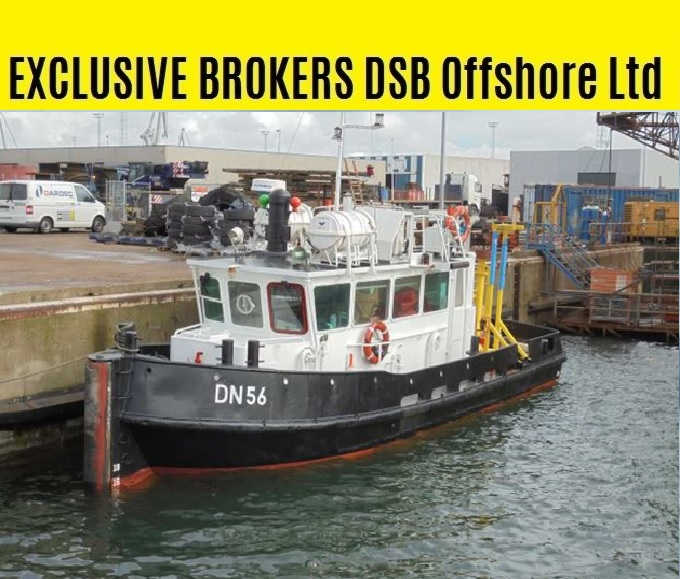 EXCLUSIVE BROKER: sale twin screw Delta tug DN56 / 14 x 4 m / 5 tbp / 380 bhp