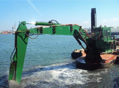 Backhoe dredger for charter / 20m dredge depth
