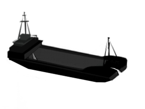 Self propelled splitbarge for charter / 750m3