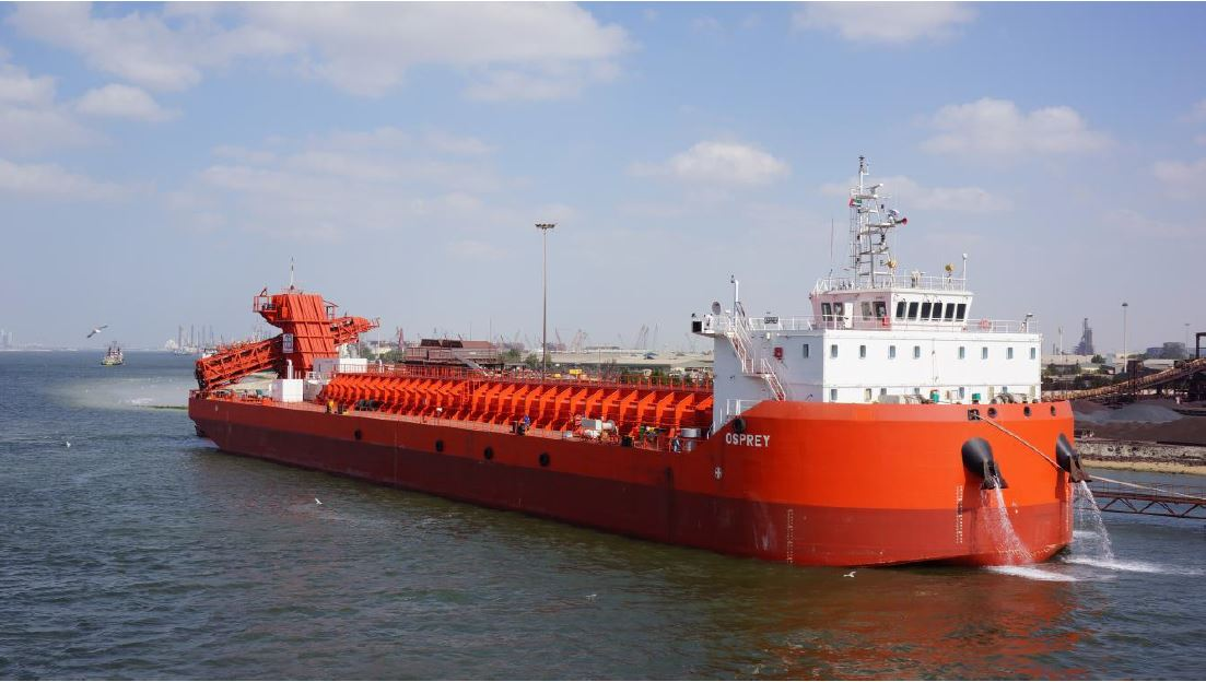 self-unloading barge for sale